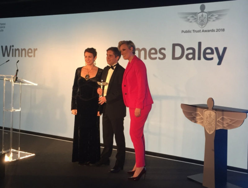 James Daley wins Consumer Champion Award