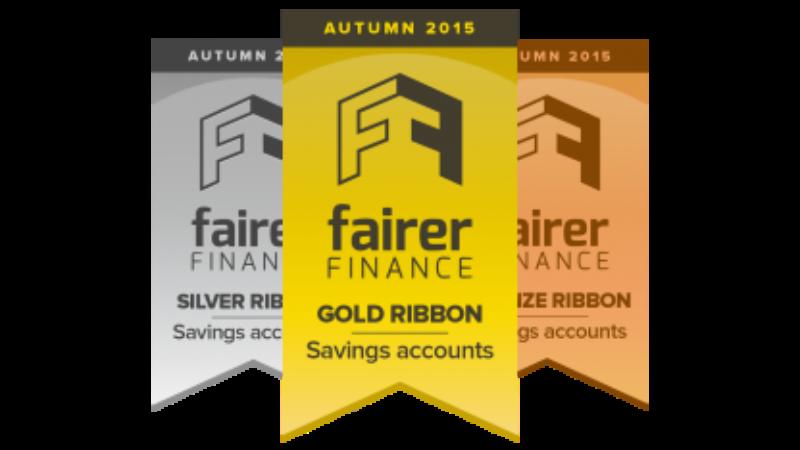 Fairer Finance Gold, Silver & Bronze ribbons