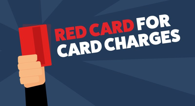 Red card for card charges