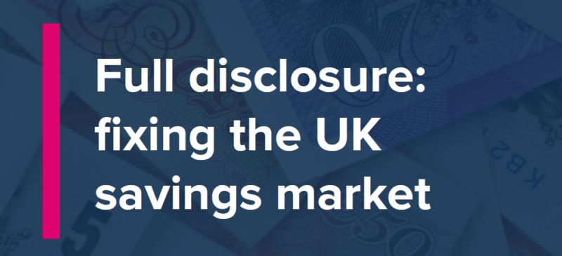 Fixing the UK savings market