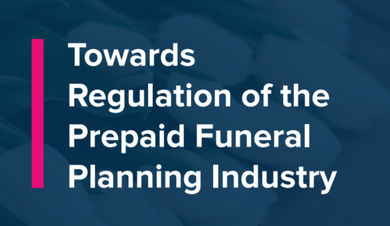 The road to regulation for the prepaid funeral plan market