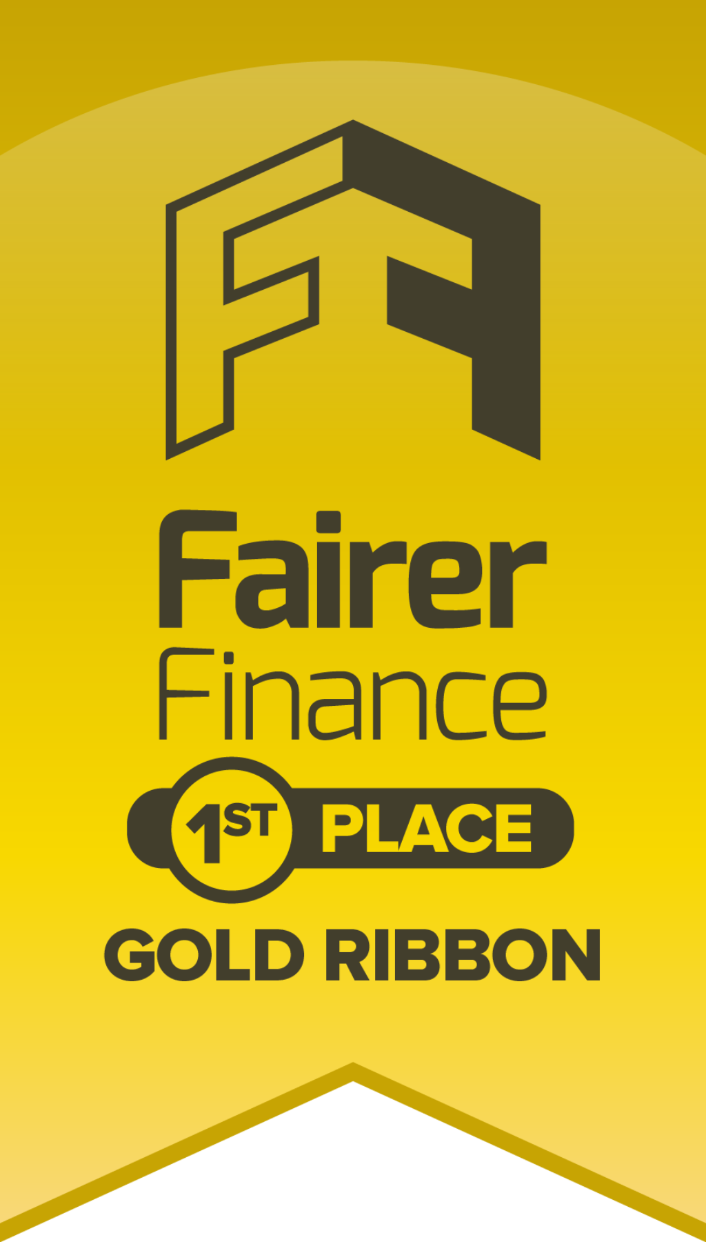 Gold ribbon: first place